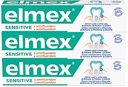 Духи, Парфюмерия, косметика Набор - Elmex Sensitive Toothpaste (toothpaste/3x75ml)
