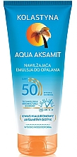 Духи, Парфюмерия, косметика Увлажняющий лосьон для загара - Kolastyna Aqua Aksamit SPF50