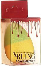 Духи, Парфюмерия, косметика Спонж для макияжа, желто-зеленый - Bling Powder Puff