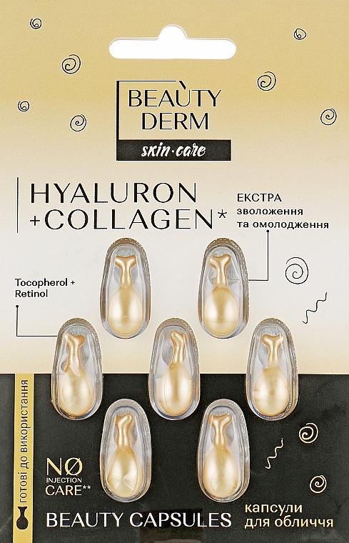 Капсулы для лица - Beauty Derm Hyaluron + Collagen Beauty Capsules