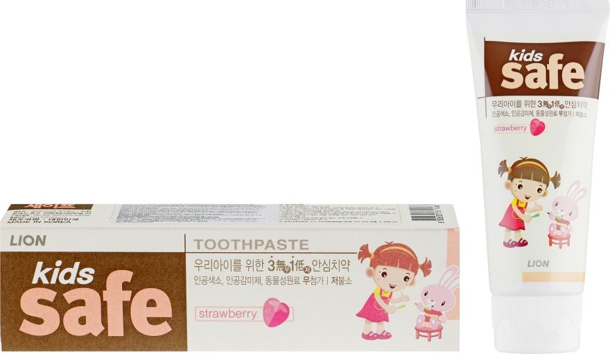 Детская зубная паста со вкусом клубники - CJ Lion Kids Safe