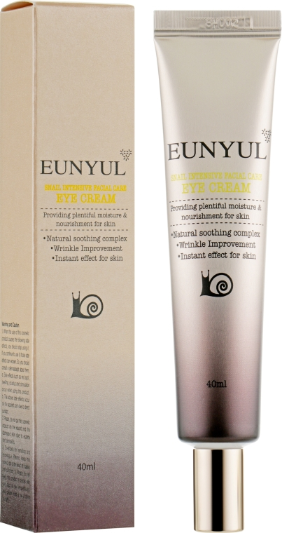 Крем для кожи вокруг глаз с муцином улитки - Eunyul Snail Intensive Facial Care Eye Cream
