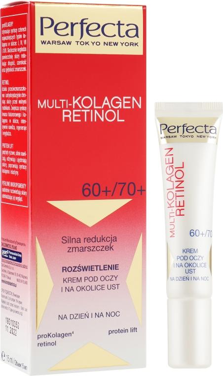 Крем для глаз и губ 60+/70+ - Perfecta Multi-Collagen Retinol Eye Cream 60+/70+