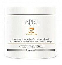 Парфумерія, косметика Пом'якшувальна сольова ванна для ніг - APIS Professional Softening Honey And Orange Salt