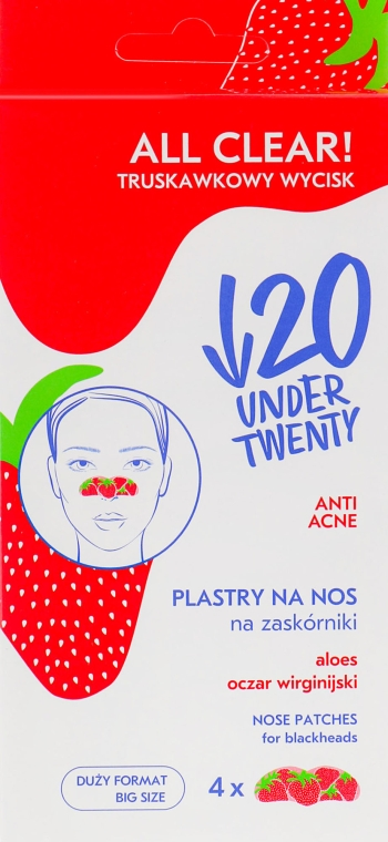 Очищающие полоски для носа - Under Twenty Anti! Acne All Clear! Nose Strip