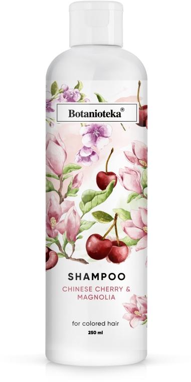 """Шампунь для окрашенных волос """"Магнолия и китайская вишня"""" - Botanioteka Shampoo For Dyed Hair"""
