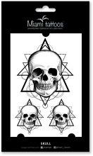 Духи, Парфюмерия, косметика Черные переводные тату - Miami Tattoos Skull