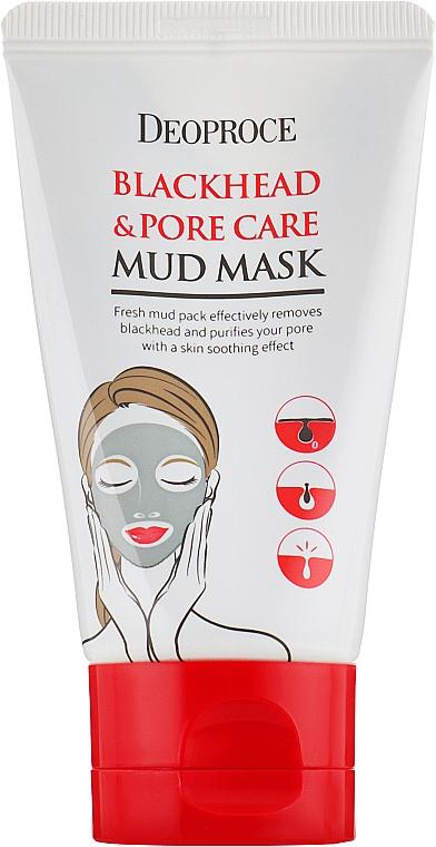 Очищающая детокс-маска для лица - Deoproce Blackhead & Pore Care Mud Mask