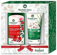 Духи, Парфюмерия, косметика Набор - Farmona Herbal Care Wild Rose & Aloe (bath/milk/500ml + b/balm/200ml)