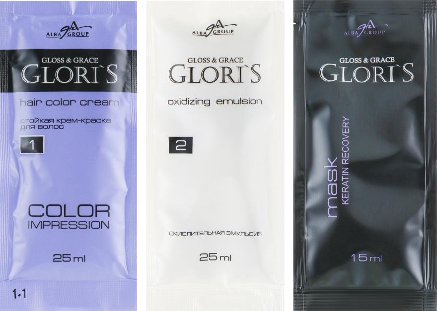 Крем-фарба для волосся на 1 застосування - Glori's Gloss&Grace — фото N2