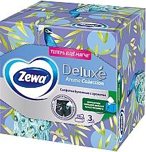 Салфетки косметические с ароматом, трехслойные, павлин, 60шт - Zewa Deluxe Box Aroma Collection — фото N1