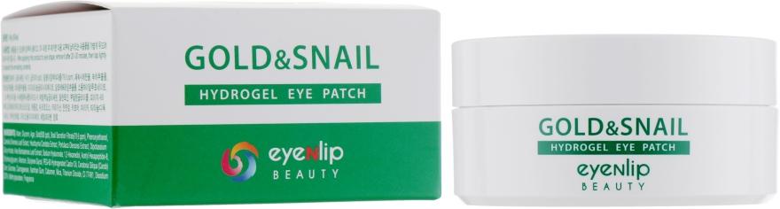 Гидрогелевые патчи для глаз с экстрактом золота и муцина улитки - Eyenlip Gold & Snail Hydrogel Eye Patch