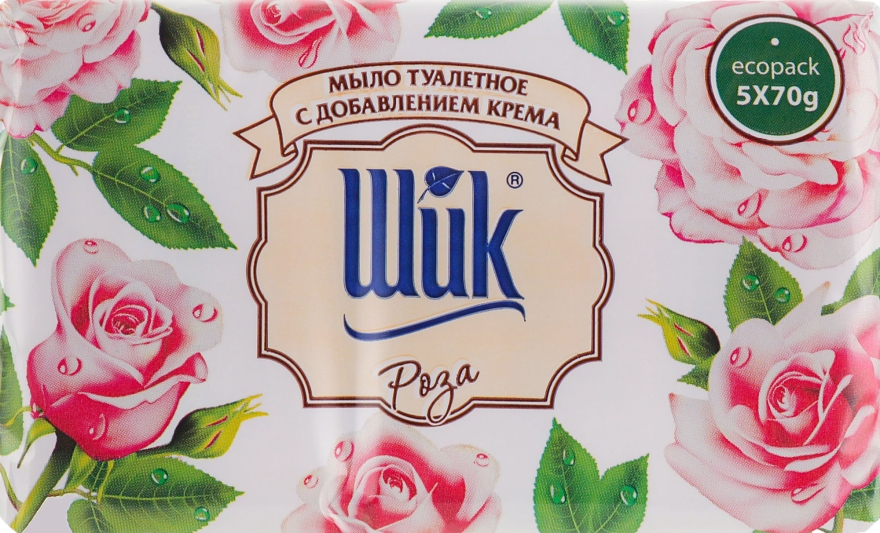"""Мыло туалетное """"Роза"""" с добавлением крема - Шик"""