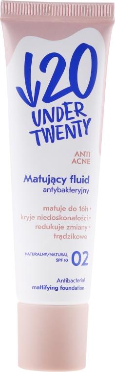 Матирующий флюид - Under Twenty Anti! Acne Antibacterial Mattifying Foundation