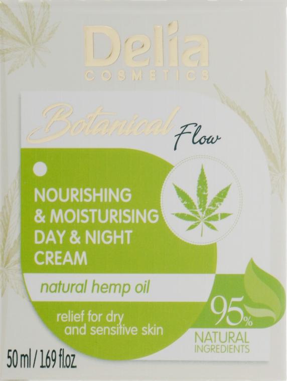 Увлажняющий и питательный крем для лица с конопляным маслом - Delia Botanical Flow Nourishing & Moisturizing Hemp Oil Day & Night Cream