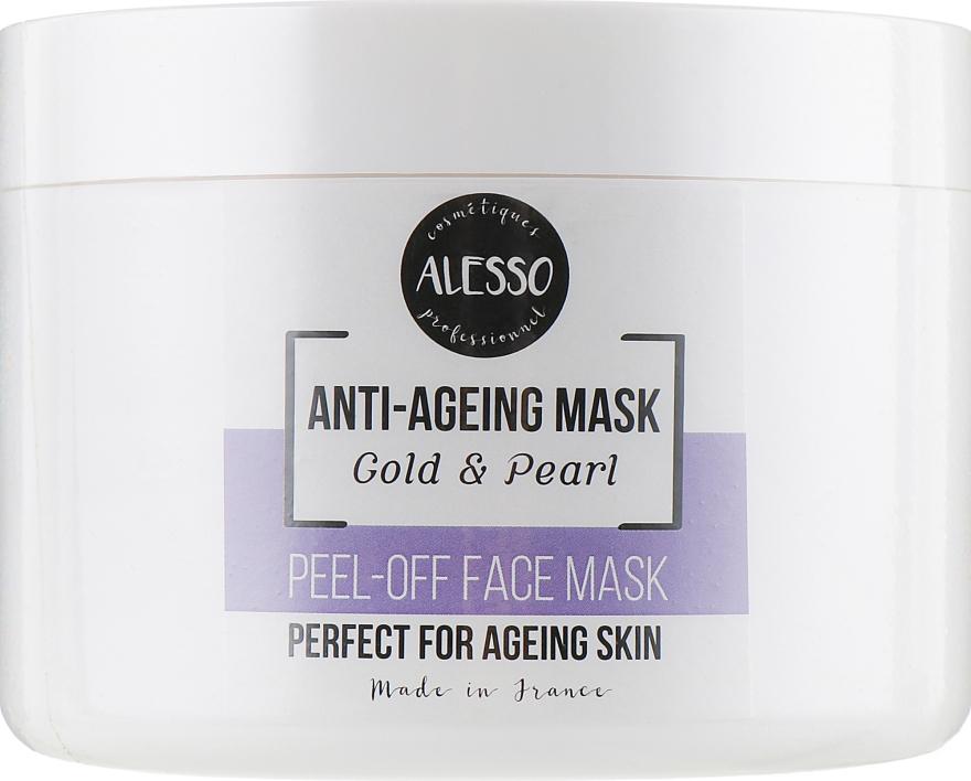 "Маска для лица альгинатная омолаживающая ""Золото и Жемчуг"" - Alesso Professionnel Alginate Gold and Pearl Peel-Off Face Anti-Age Mask"