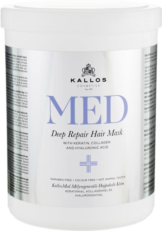 Маска для глубокого восстановления - Kallos Cosmetics MED Deep Repair Hair Mask