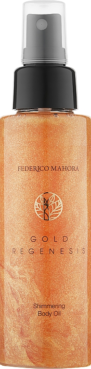 Масло для тела с шиммером - Federico Mahora Gold Regenesis Body Oil