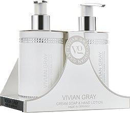Духи, Парфюмерия, косметика Набор - Vivian Gray White Crystals Set (cr/soap/250ml + h/lot/250ml)