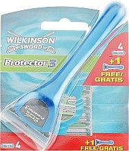 Духи, Парфюмерия, косметика Станок + 5 сменных лезвий - Wilkinson Sword Protector 3