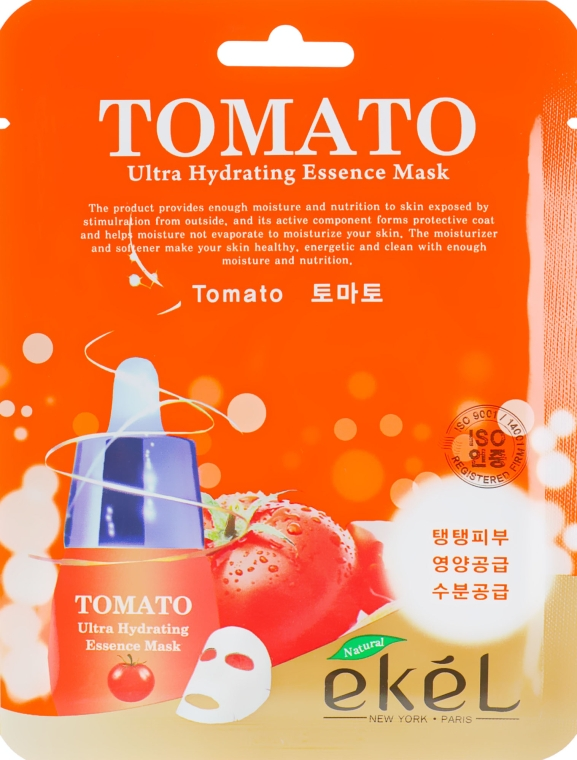Маска тканевая с экстрактом томата - Ekel Tomato Ultra Hydrating Mask