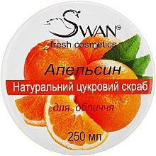 """Духи, Парфюмерия, косметика Натуральный сахарный скраб с ароматом """"Апельсин"""" для нормальной и комбинированной кожи - Swan"""