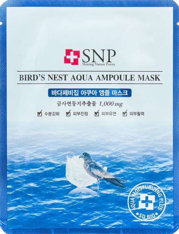 Омолаживающая маска с экстрактом ласточкиного гнезда - SNP Birds Nest Aqua Ampoule Mask