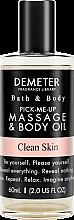Духи, Парфюмерия, косметика Demeter Fragrance Clean Skin - Масло для тела и массажа