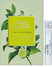 Духи, Парфюмерия, косметика Maurer & Wirtz 4711 Aqua Colognia Lime & Nutmeg - Одеколон (пробник)