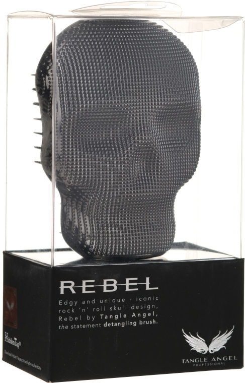 Расческа для волос - Tangle Angel Rebel Brush Black Chrome