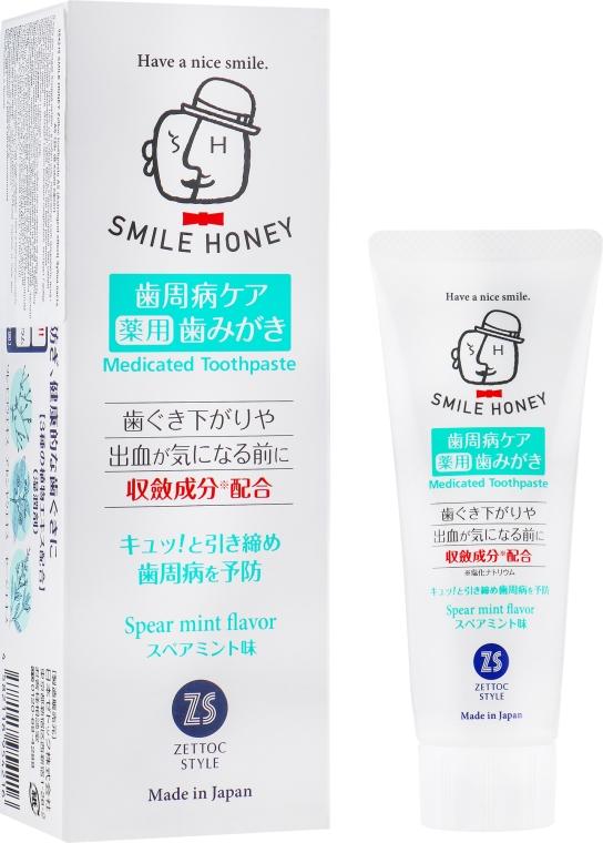 Зубная паста при кровотечениях и опускании десен - Zettoc Smile Honey Astringent Effect