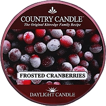 "Духи, Парфюмерия, косметика Чайная свеча ""Замороженная клюква"" - Country Candle Frosted Cranberry Daylight"