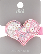"Духи, Парфюмерия, косметика Заколка для волос ""Серце с пайетками"", d-092, розовая - Dini Style"