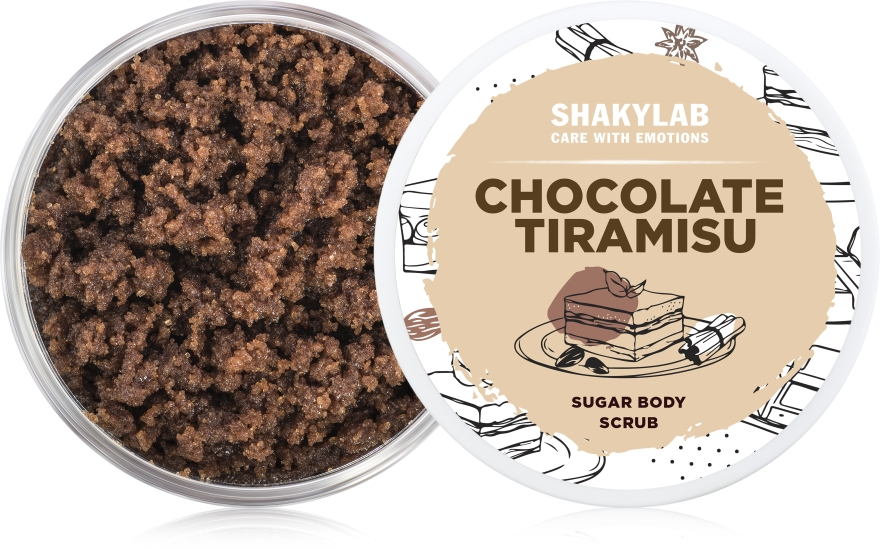 Сахарный скраб для тела «Chocolate Tiramisu» - SHAKYLAB Sugar Natural Body Scrub