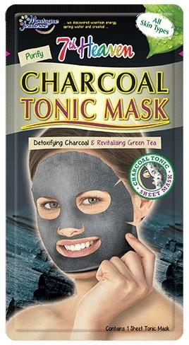 "Тканевая маска для лица ""Древесный уголь"" - 7th Heaven Charcoal Tonic Sheet Mask"