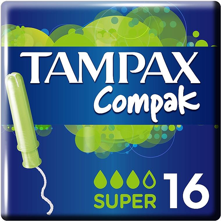 Тампоны с аппликатором, 16шт - Tampax Compak Super