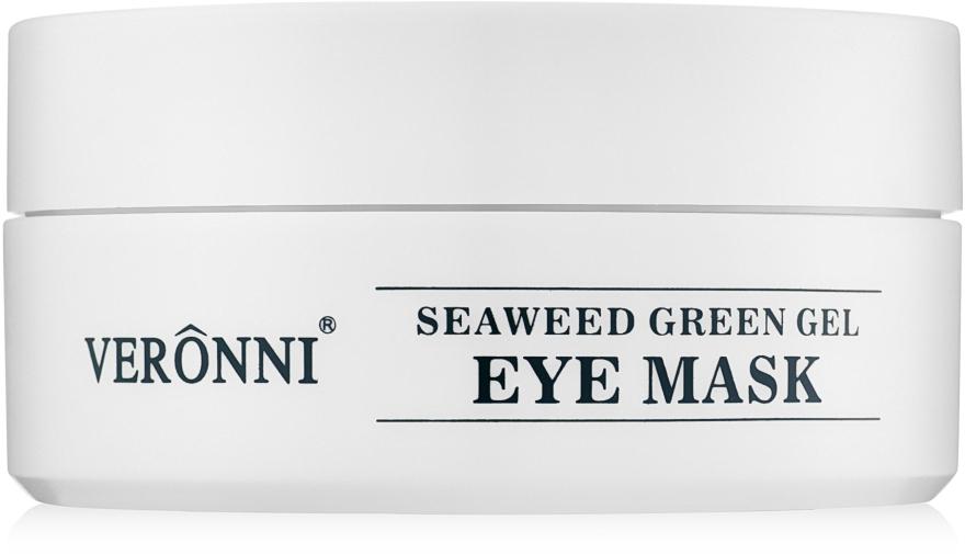 Омолаживающие гидрогелевые патчи для глаз с экстрактом морских водорослей и гиалуроновой кислотой - Veronni Seaweed Green Gel Eye Mask