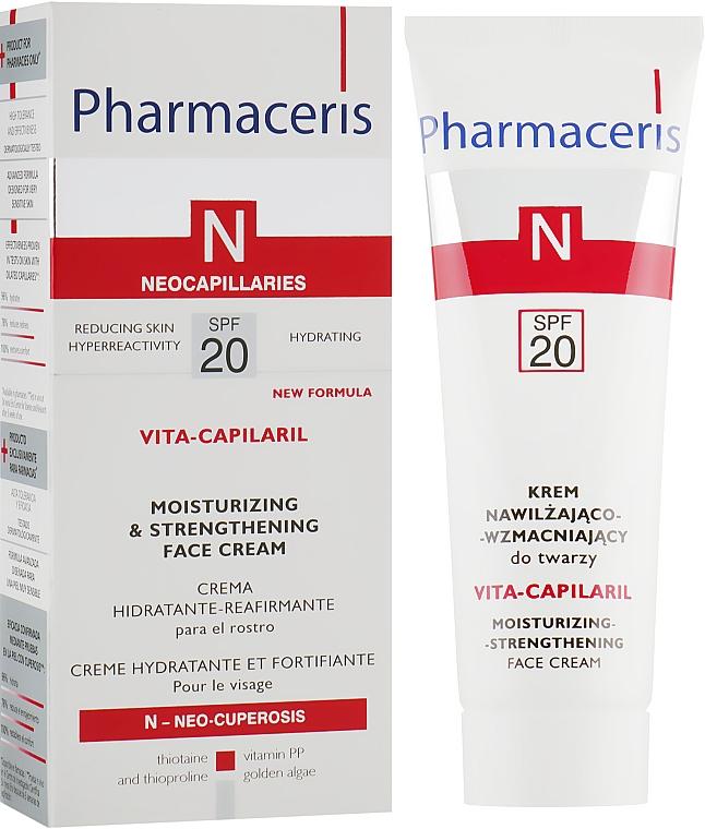 Крем увлажняющий с укрепляющим эффектом для лица - Pharmaceris N Vita Capilaril Moisturizing-Strengthening Face Cream SPF20