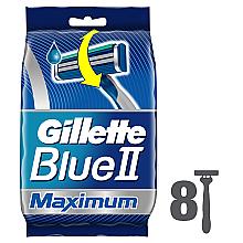 Парфумерія, косметика Набір одноразових станків для гоління, 8шт - Gillette Blue II Maximum