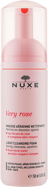 Легкая очищающая пена для лица - Nuxe Very Rose Light Cleansing Foam