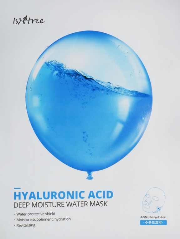 Увлажняющая маска с гиалуроновой кислотой - Isntree Hyaluronic Acid Deep Moisture Water Mask