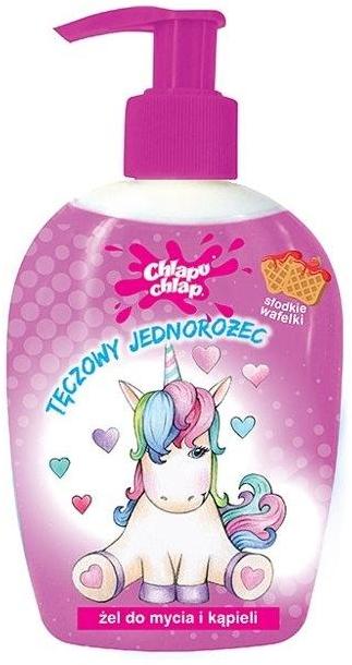 """Детский гель для душа """"Радужный единорог"""", сладкие вафли - Chlapu Chlap Bath & Shower Gel"""