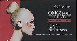 Духи, Парфюмерия, косметика Патчи для зоны вокруг глаз - Double Dare OMG! Foil Eye Patch Rose Gold Treatment
