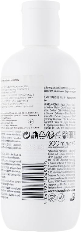 Безсульфатный шампунь с антижелтым эффектом - Schwarzkopf Professional Goodbye Yellow Shampoo — фото N2