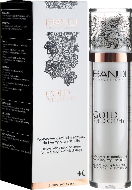 Омолаживающий пептидный крем для лица, шеи и декольте - Bandi Professional Gold Philosophy Rejuvenating Peptide Cream
