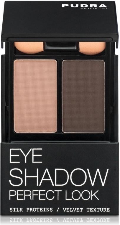 Тени компактные для век, двойные - Pudra Cosmetics Eye Shadow