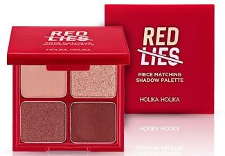 Палетка теней для век - Holika Holika Piece Matching Shadow Palette Red Lies