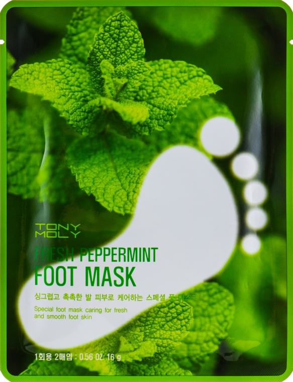 Маска для ног - Tony Moly Fresh Peppermint Foot Mask