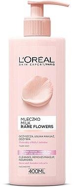 Молочко для снятия макияжа для сухой и чувствительной кожи - L'Oreal Paris Rare Flowers Cleansing Milk Dry and Sensative Skin — фото N2