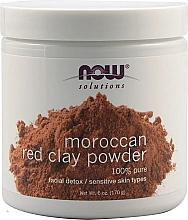 Духи, Парфюмерия, косметика Марокканская красная глина - Now Foods Solutions Moroccan Red Clay Powder